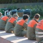Les troupes prennent une pause